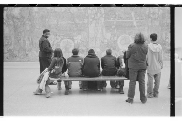 Randy Williams (left), a teacher and artist, giving a tour in this picture at the Metropolitan Museum of Art. I studied with him a while back from 2002-2004. He is a hero of mine.