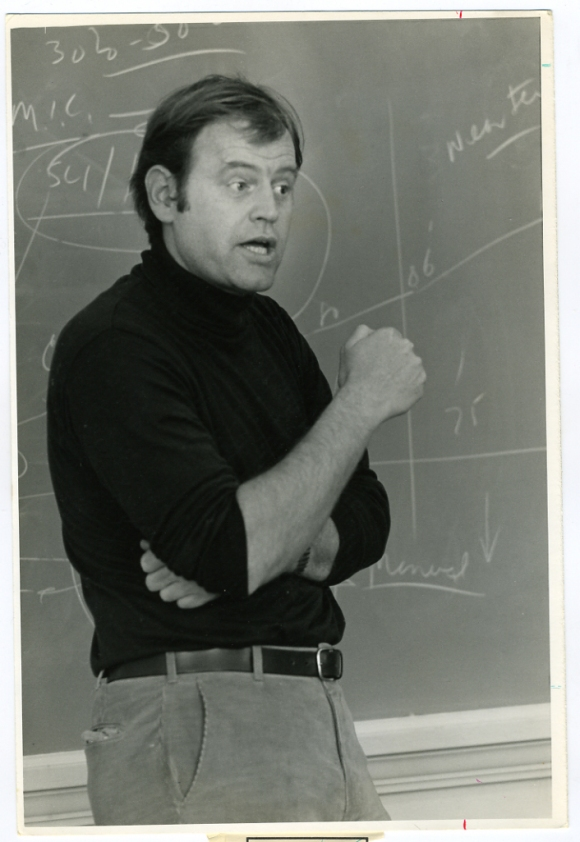 I recently found and scanned this image of my Dad teaching. The photographer is unknown.