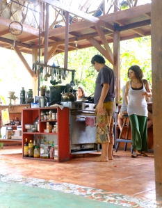 Here is the kitchen at Punta Mona. Certainly a place of gathering and where good things are made.