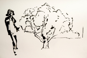Figure with tree.