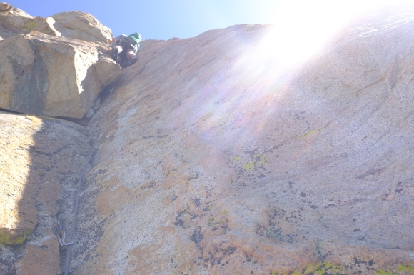 And Kevin above the crux.
